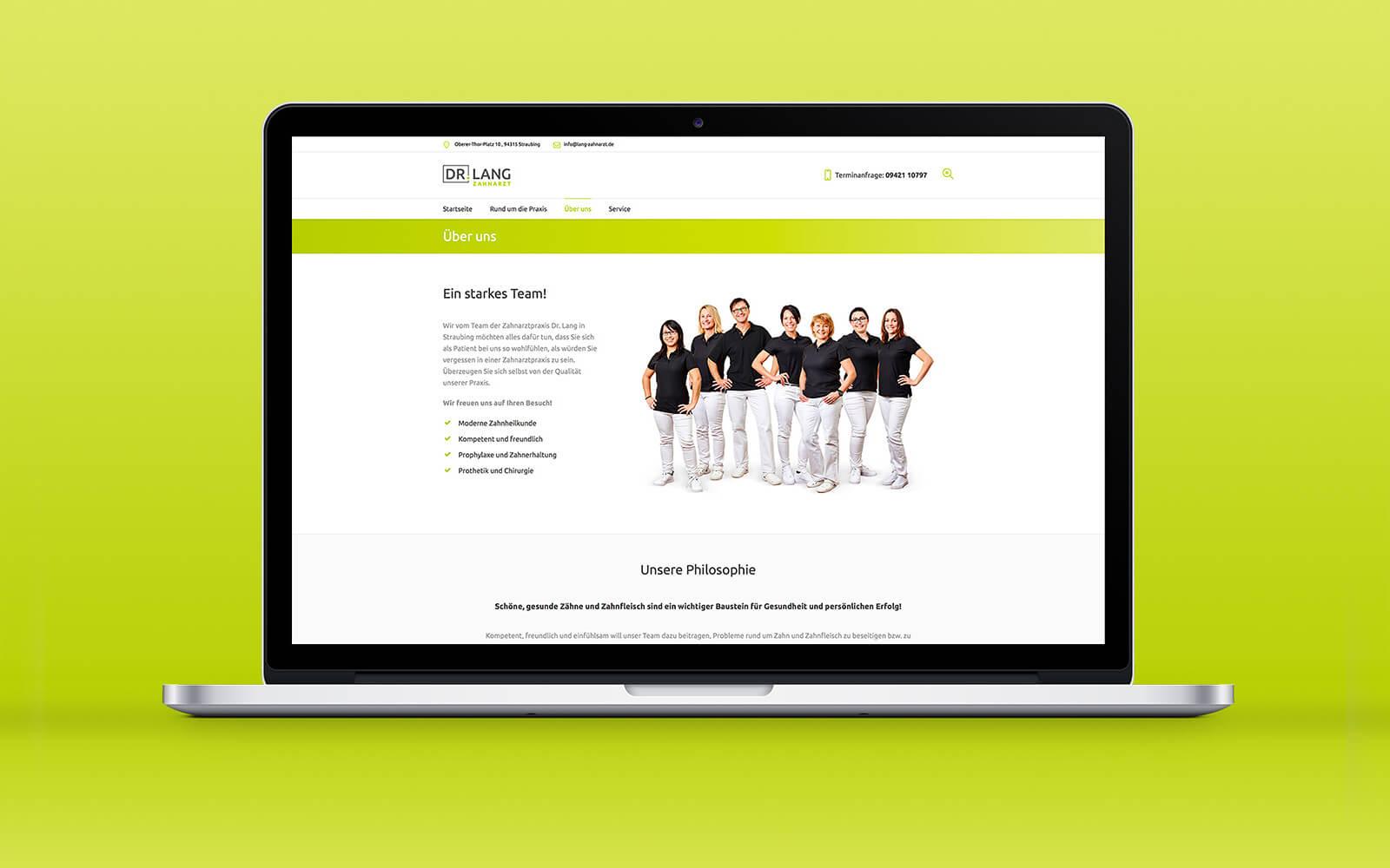 Zahnarzt Dr. Lang – Website