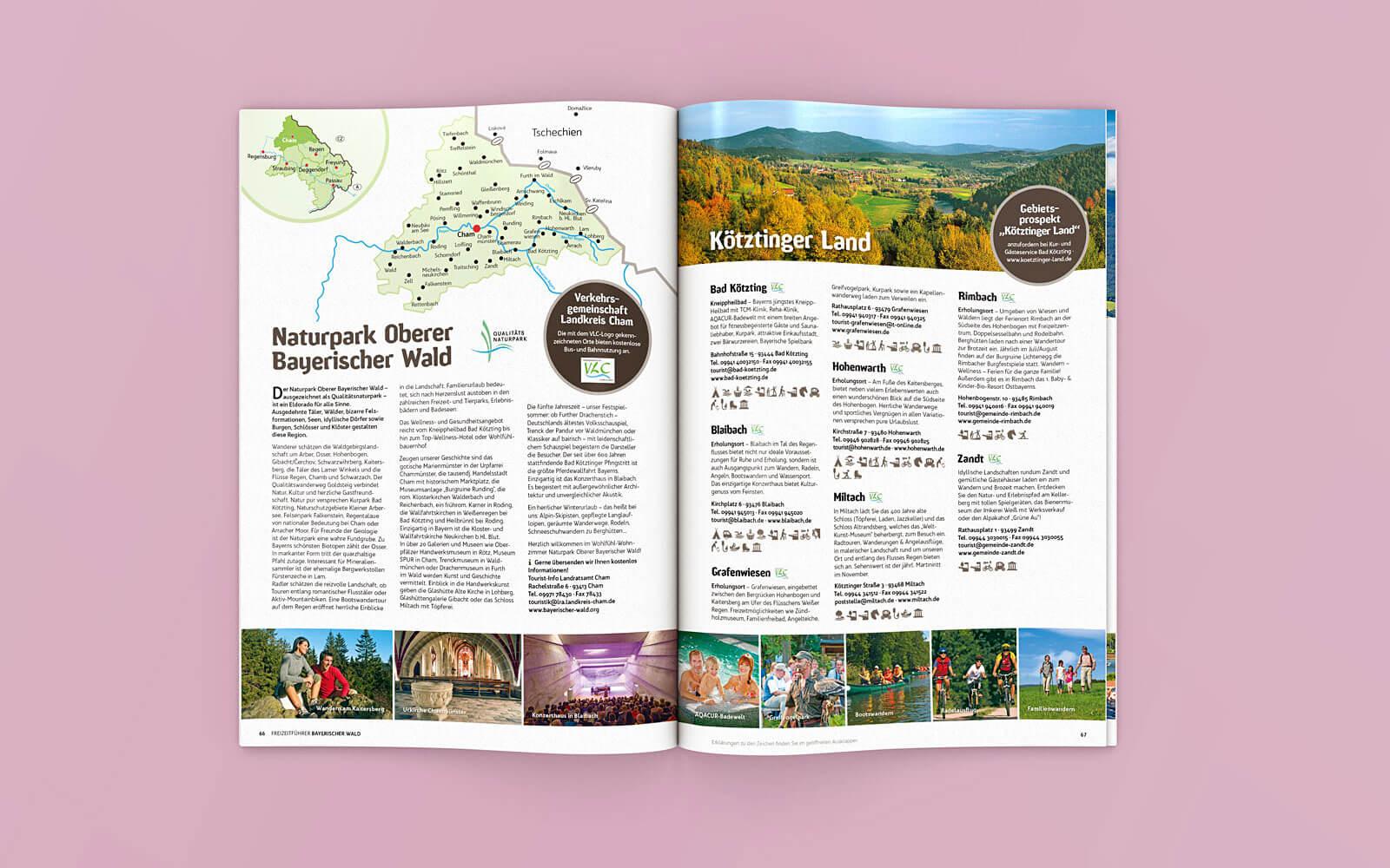 Freizeitführer Bayerischer Wald – Orte