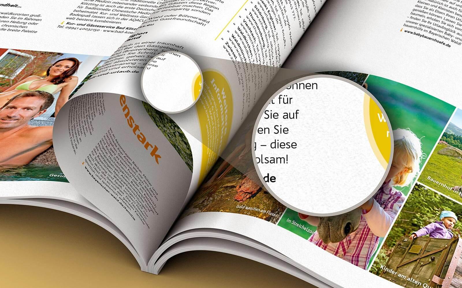 Freizeitführer Bayerischer Wald gedruckt auf Amber Graphic Papier