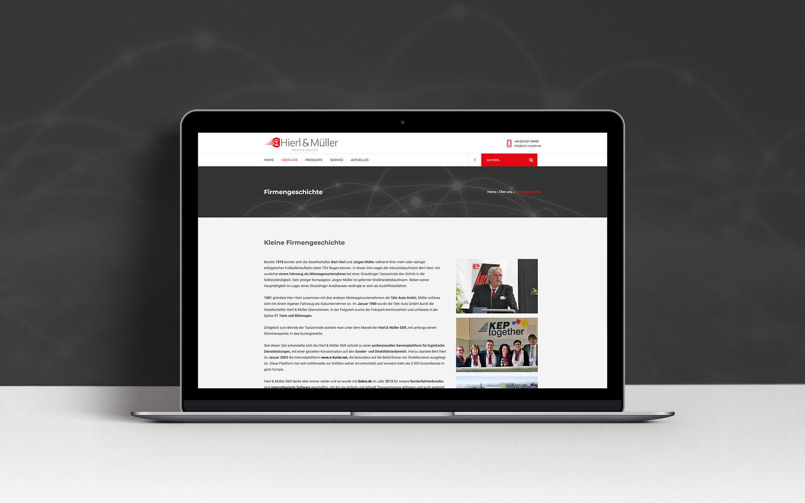 Hierl & Müller – Website Firmengeschichte