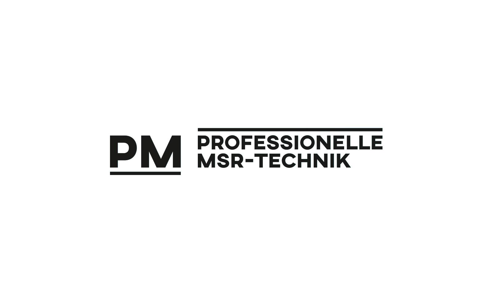 PM • MSR – Logo Schwarz