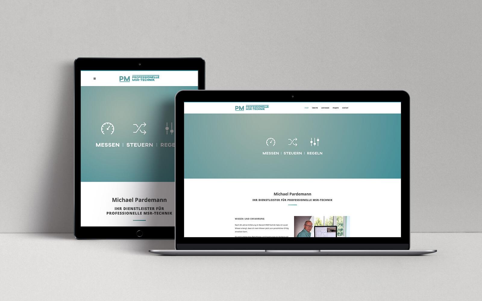 PM • MSR – Website Desktop & Tablet