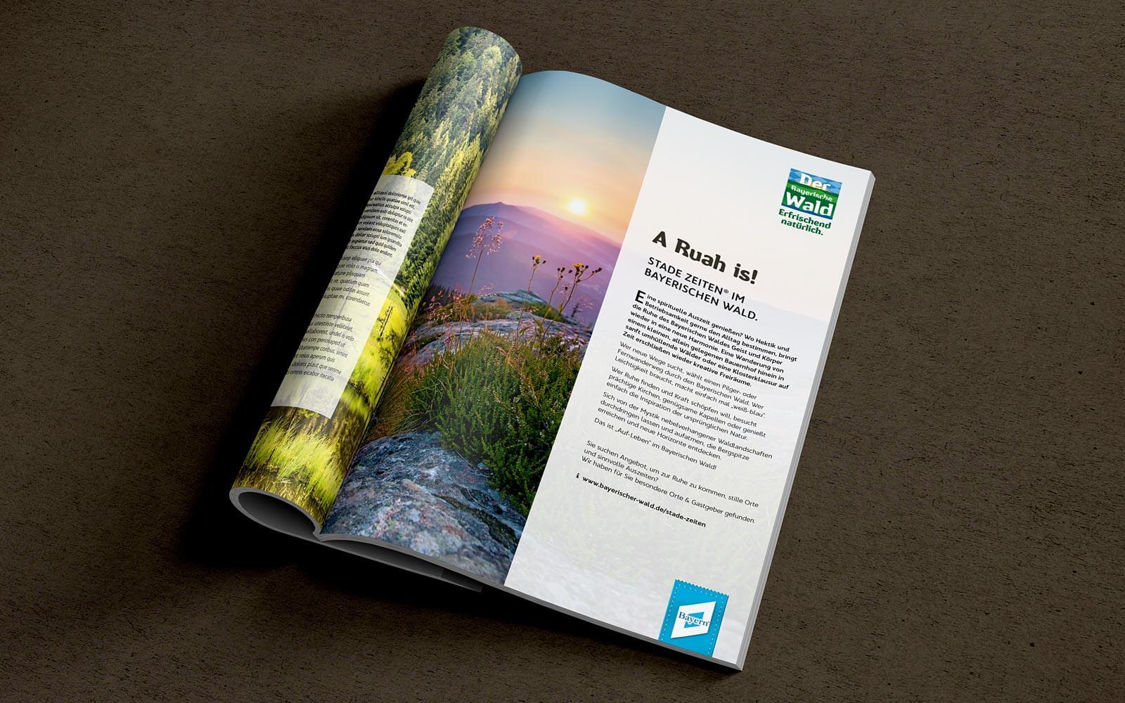 Bayerischer Wald – Anzeigenlayout