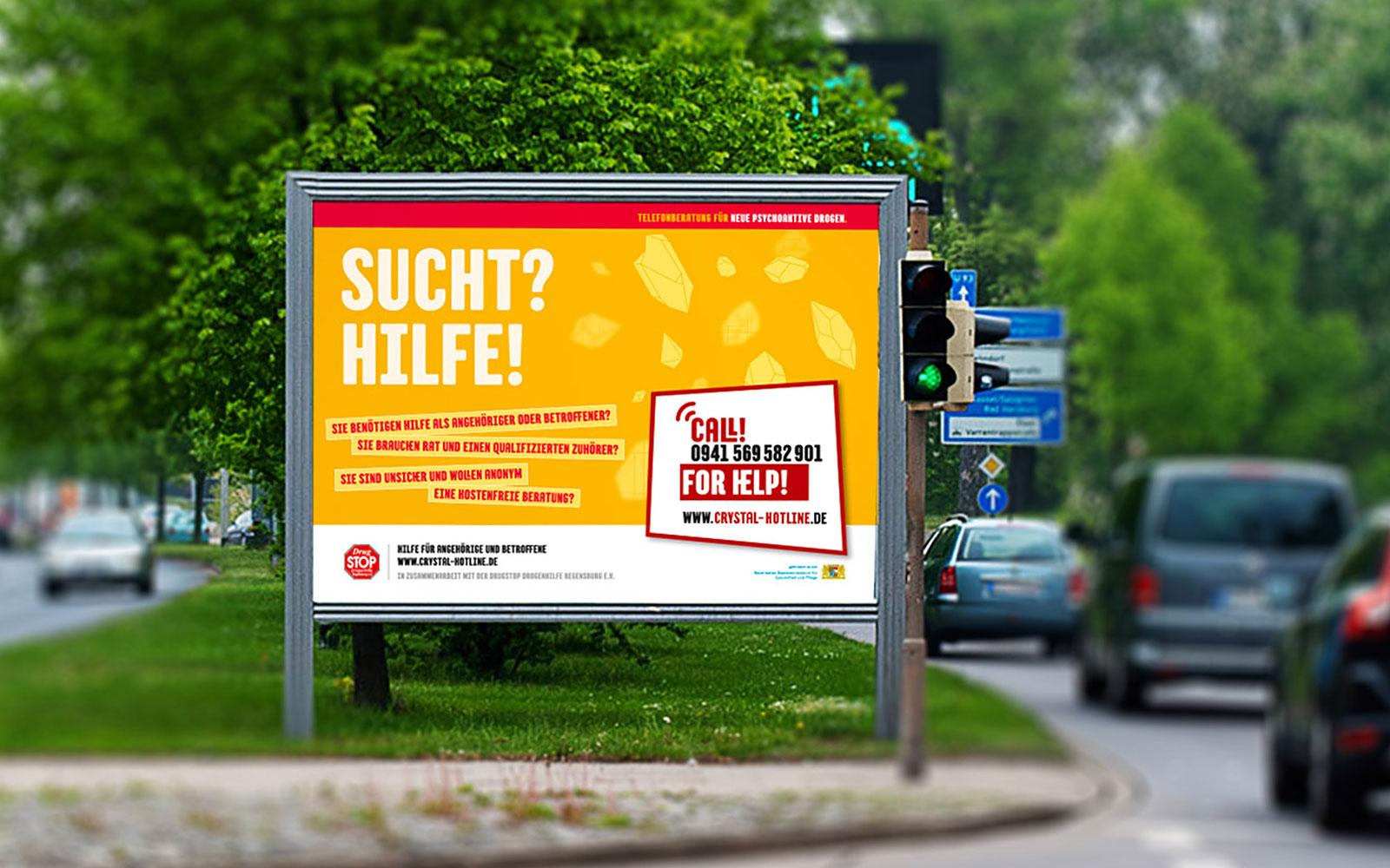 Crystal Hotline – Großflächenwerbung im Raum Ostbayern