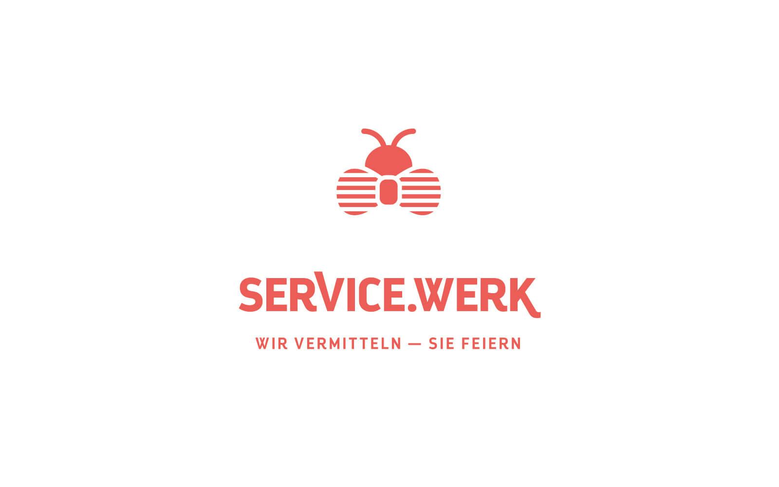 SERVICE.WERK – Logo Salmon