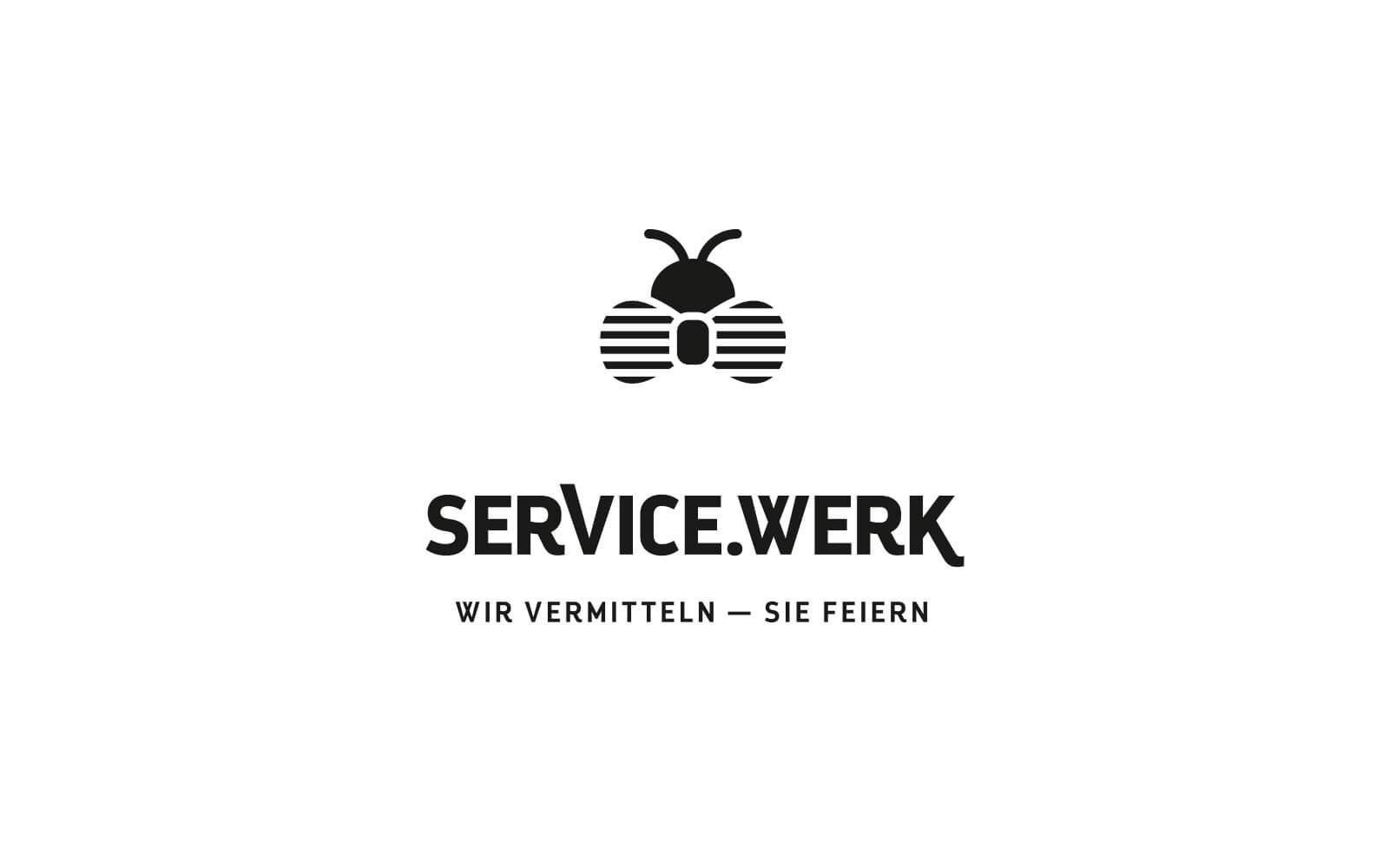 SERVICE.WERK – Logo Schwarz