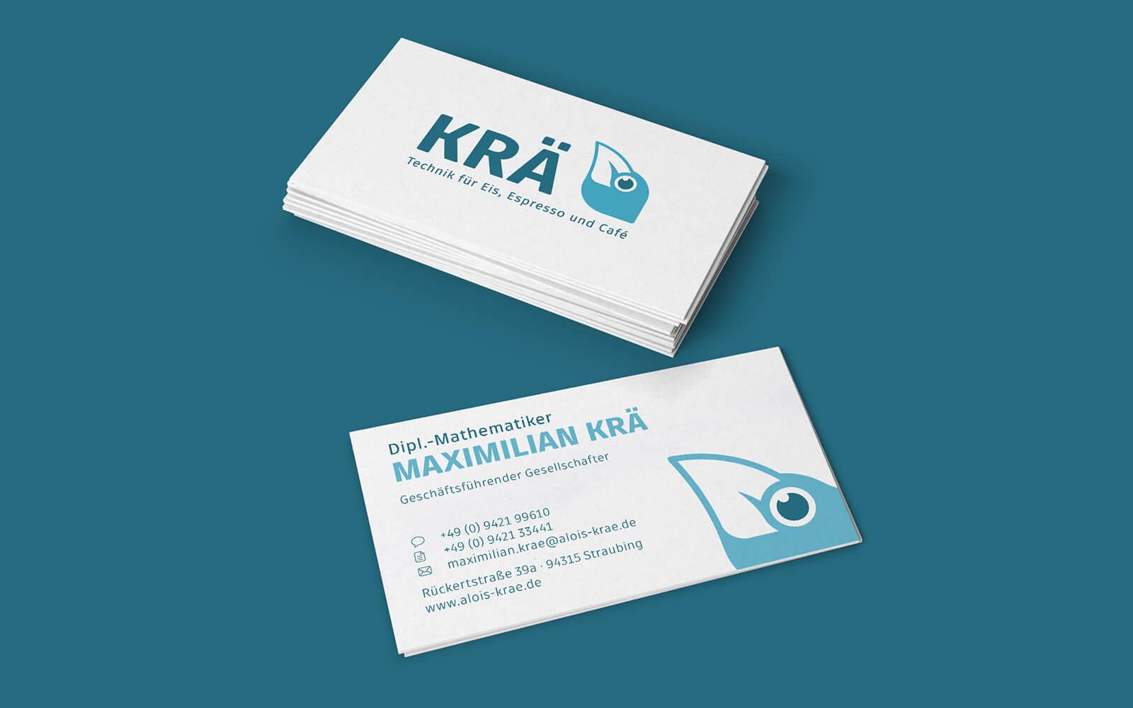 Alois Krä GmbH – Visitenkarten