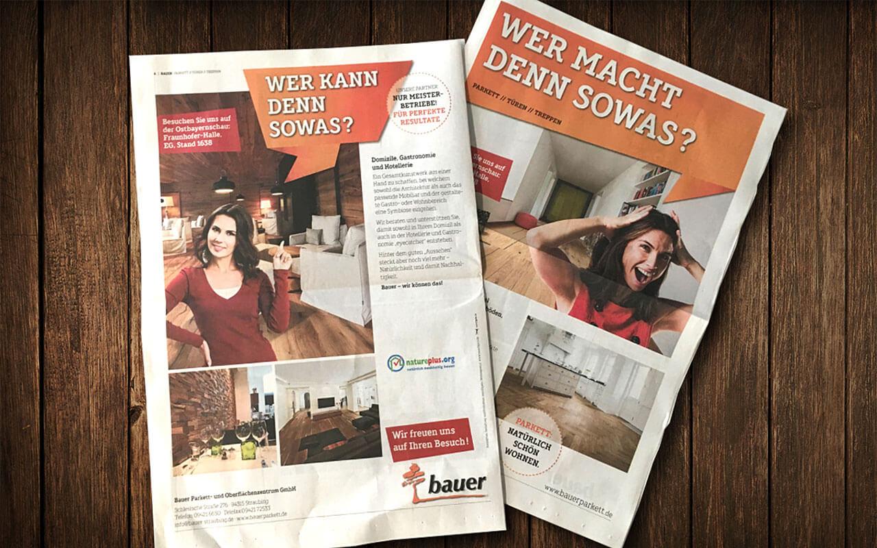 Bauer Parkett – Zeitungsbeilage