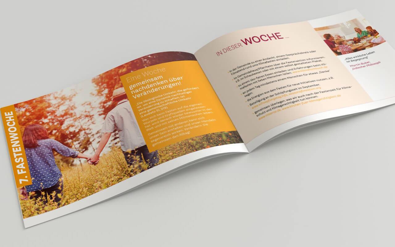 Broschüre für Fastenaktion