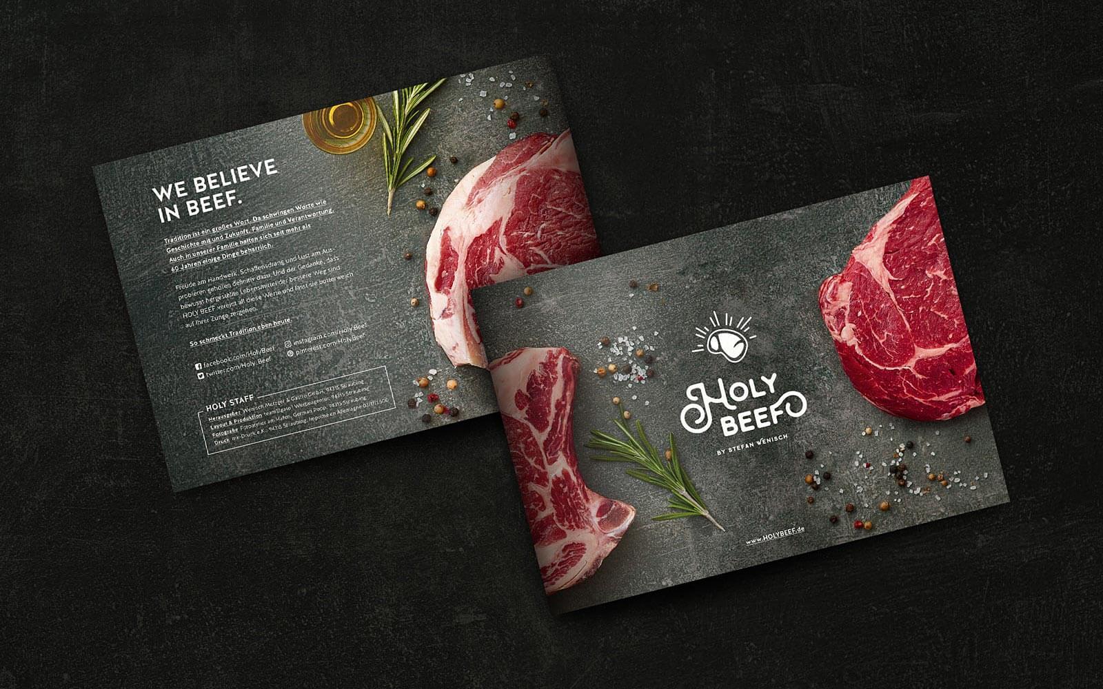 HOLY BEEF – Titel und Rücktitel Imagebroschüre
