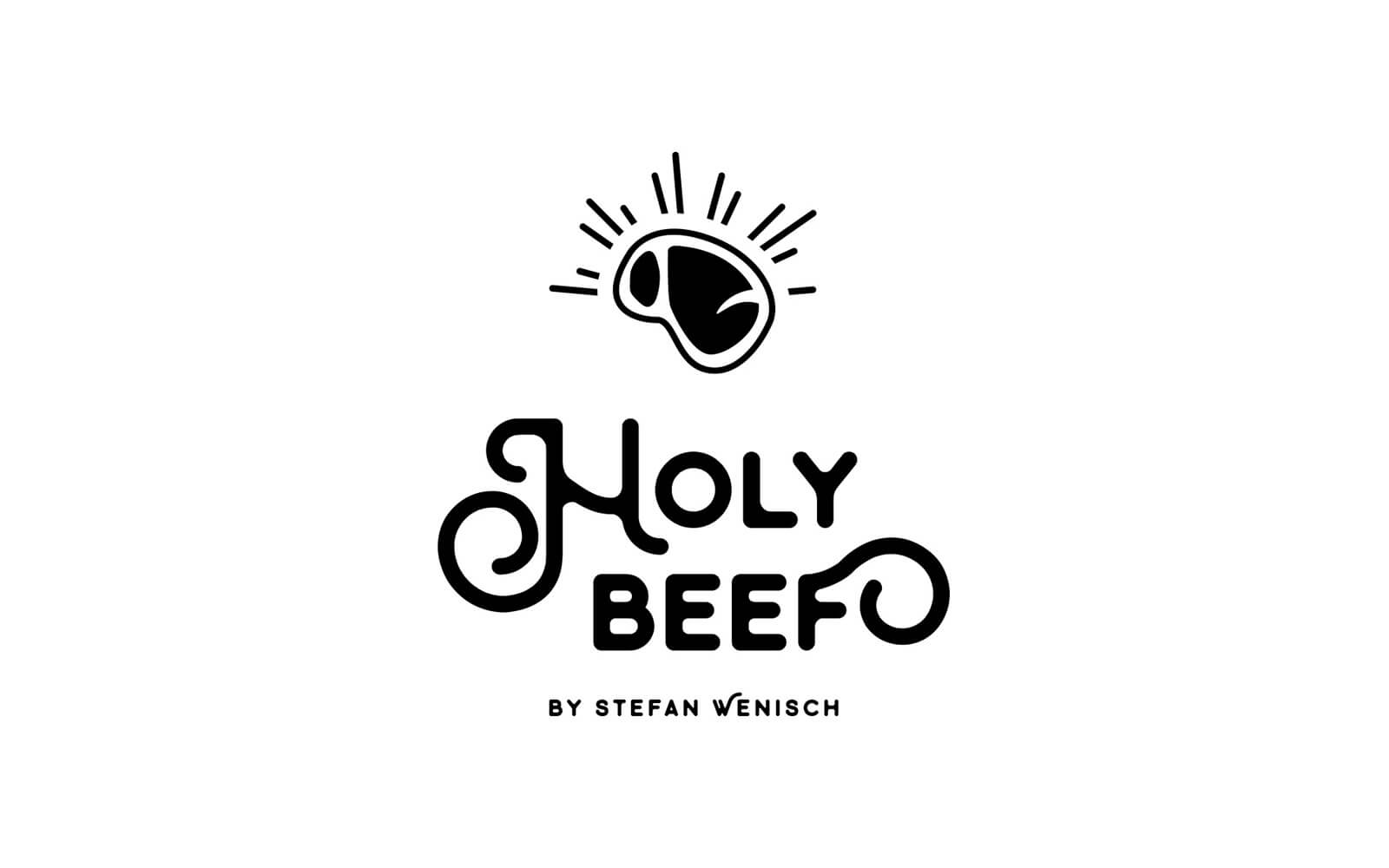 HOLY BEEF – Logo Black