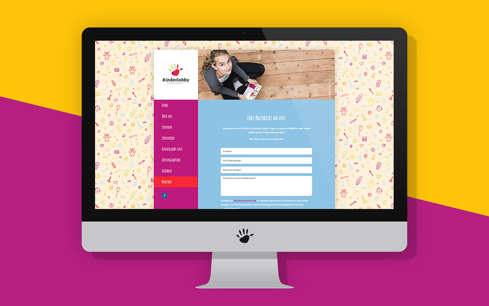 Kinderlobby Website – Kontakt