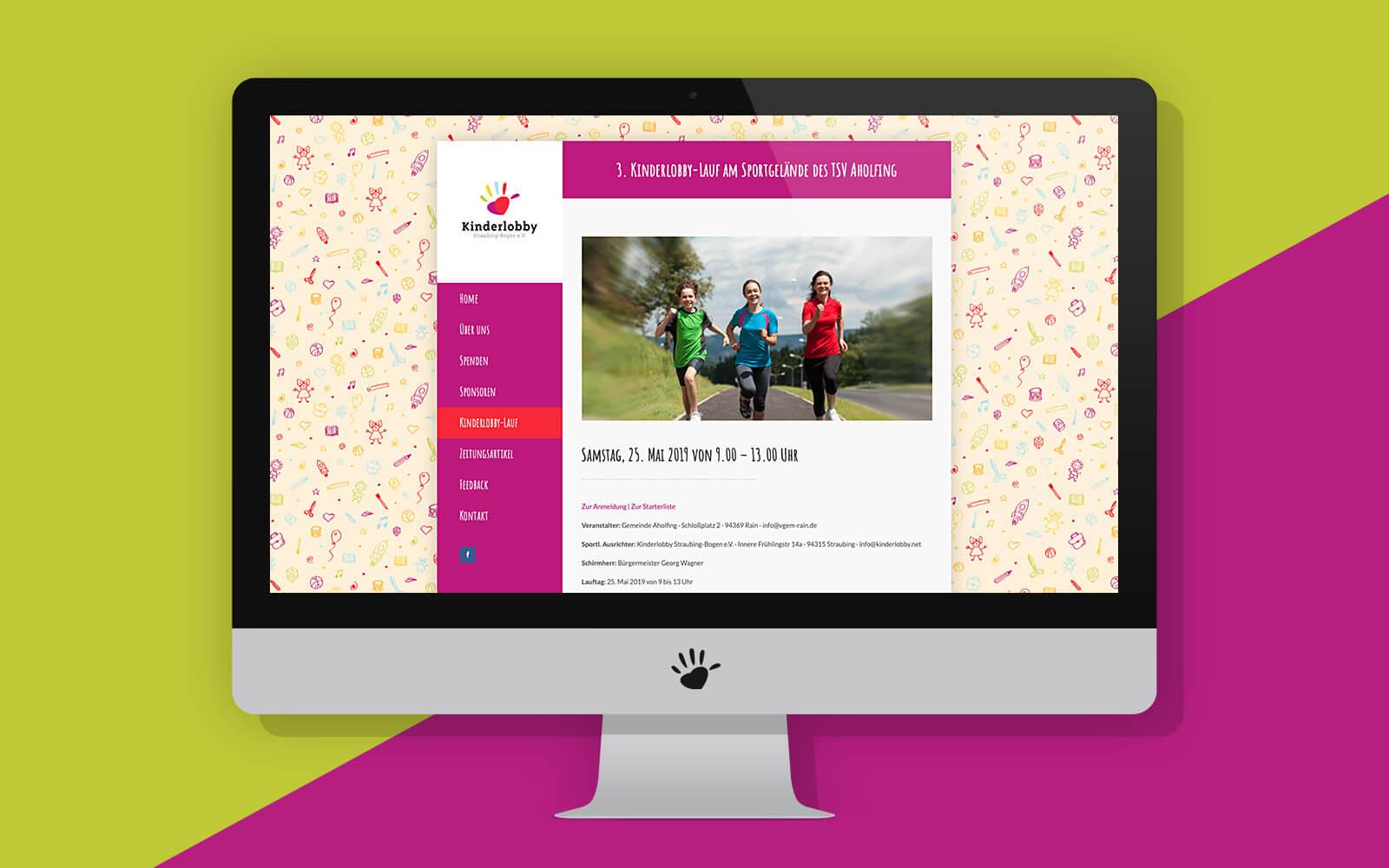 Kinderlobby Website – News