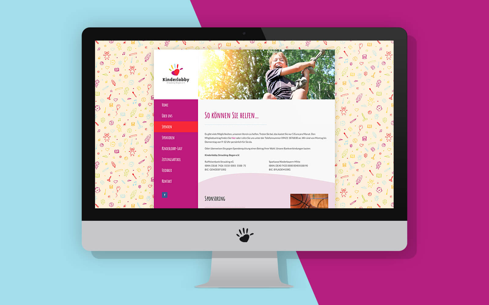 Kinderlobby Website – Spenden