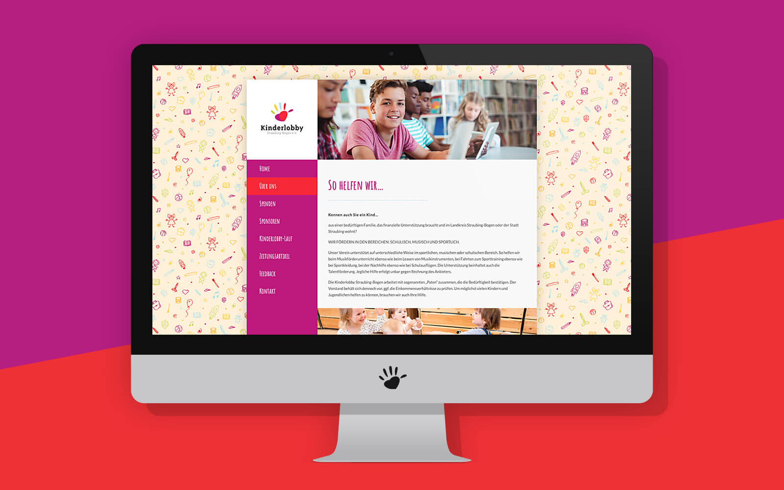 Kinderlobby Website – Über uns