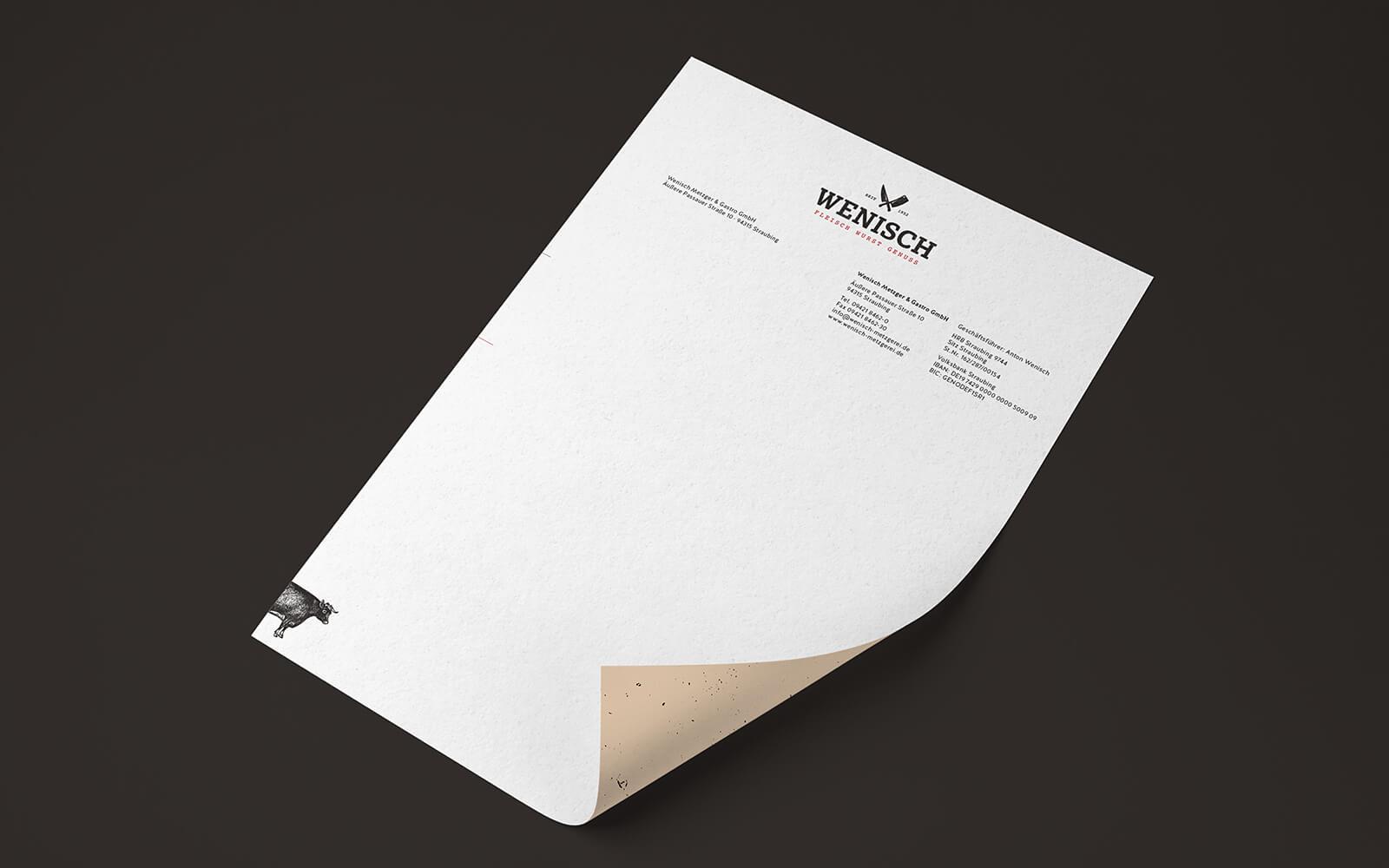 Metzgerei Wenisch – Briefvorlage