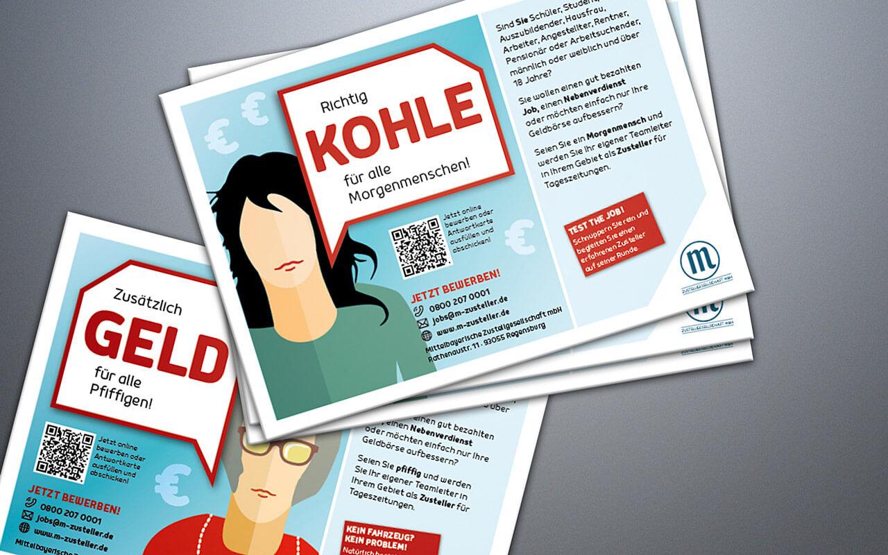 Mittelbayerische Zustellgesellschaft – Postkarten