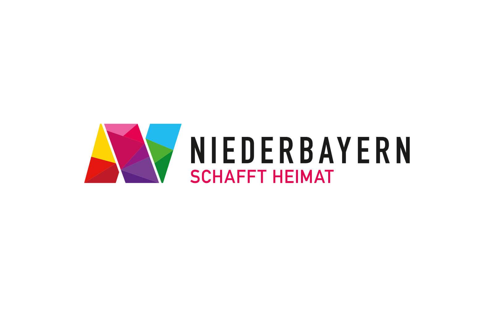 Niederbayern Logo – Dachmarke »Schafft Heimat« quer