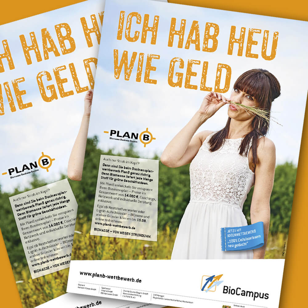 PlanB – Plakat »Ich hab Heu wie Geld«