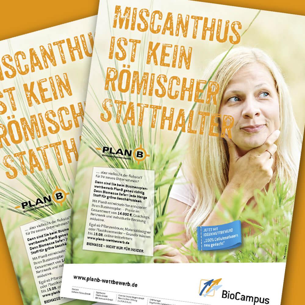 PlanB – Plakat »Miscanthus ist kein römischer Statthalter«