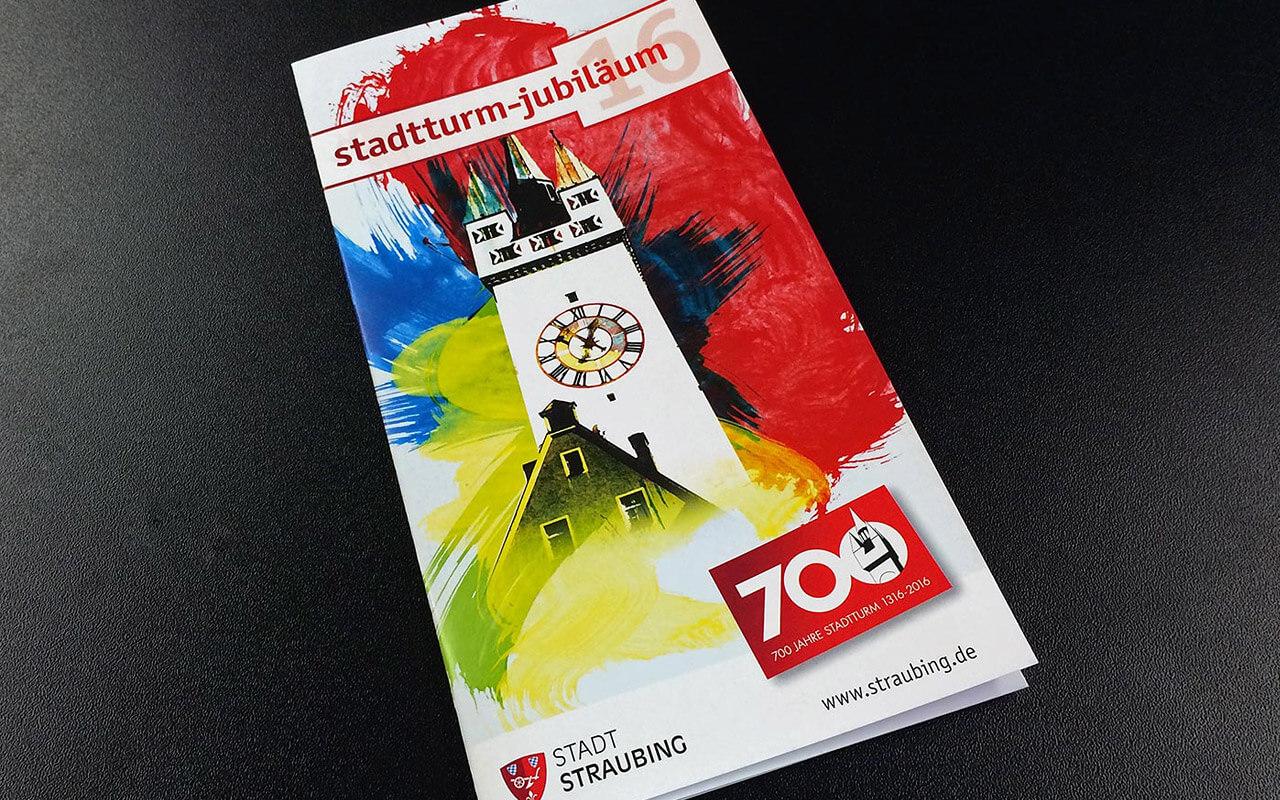 Straubing Stadtturm-Jubiläum – Flyer