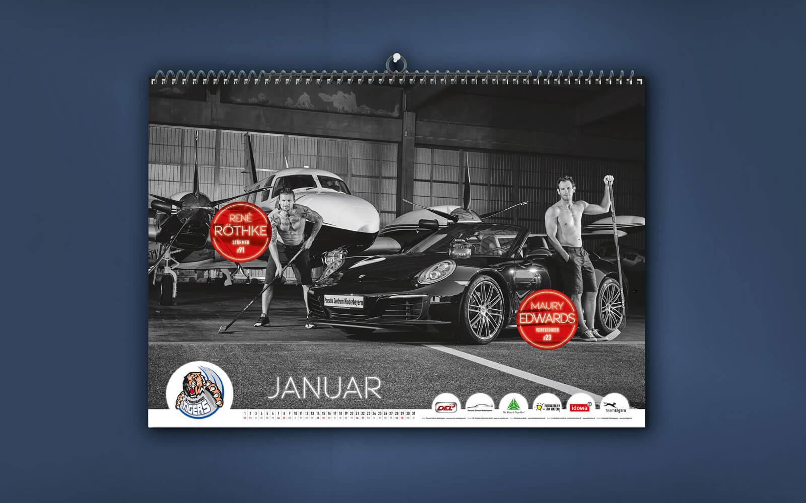 Straubing Tigers – Spielerkalender 2017 Januar