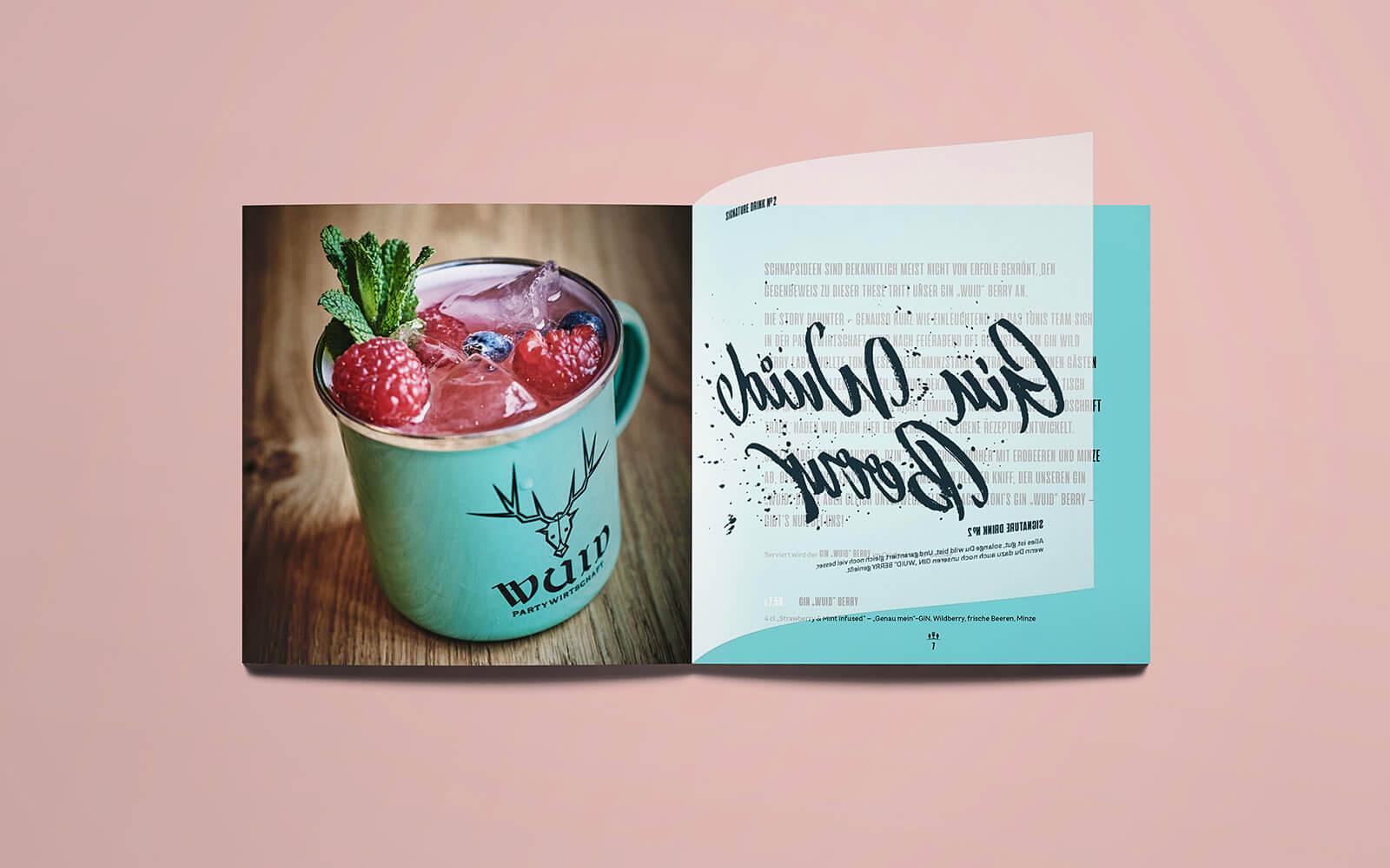 TONI's Getränkekarte – Gin WUID Berry