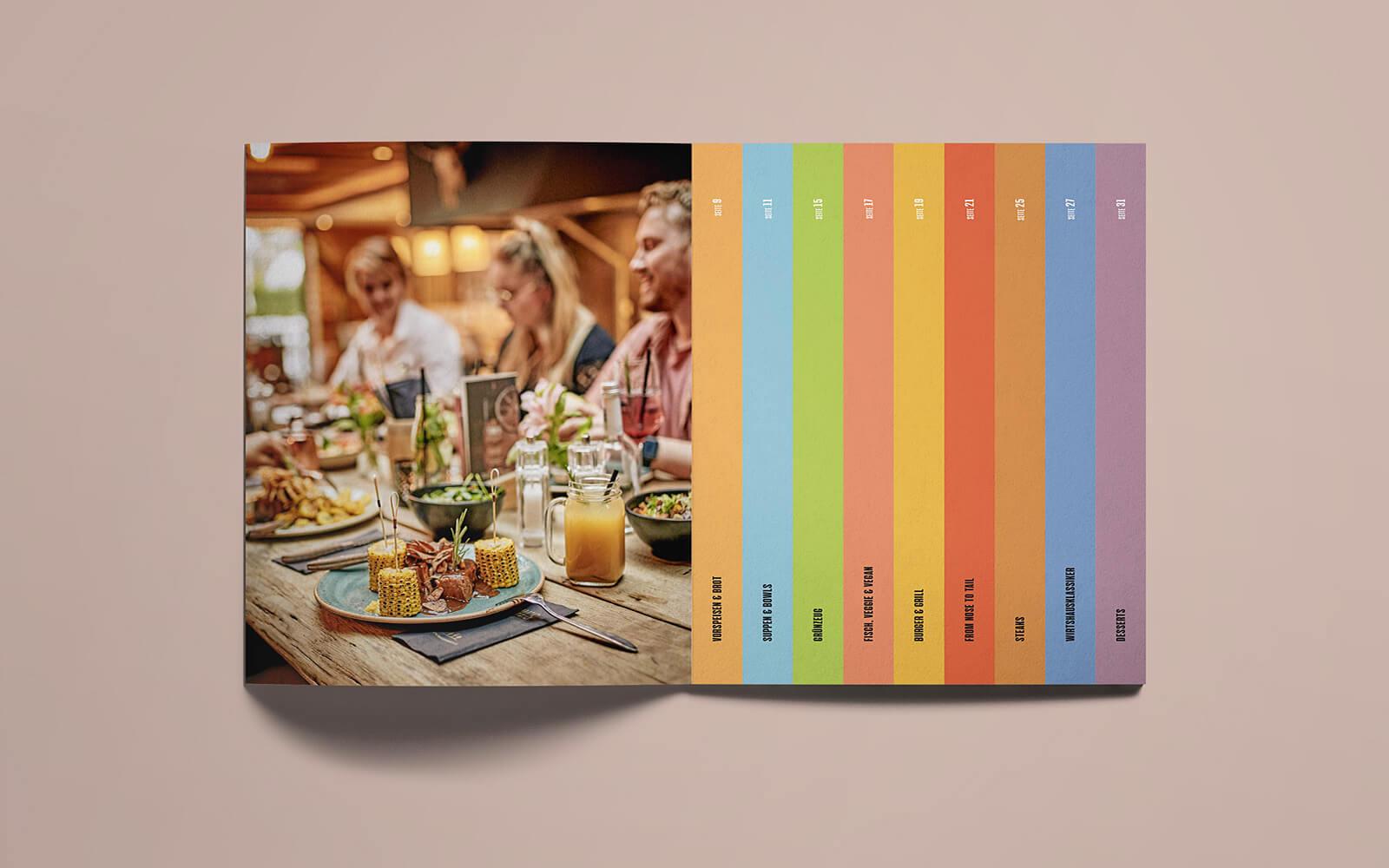 TONI's Speisekarte – Inhaltsverzeichnis