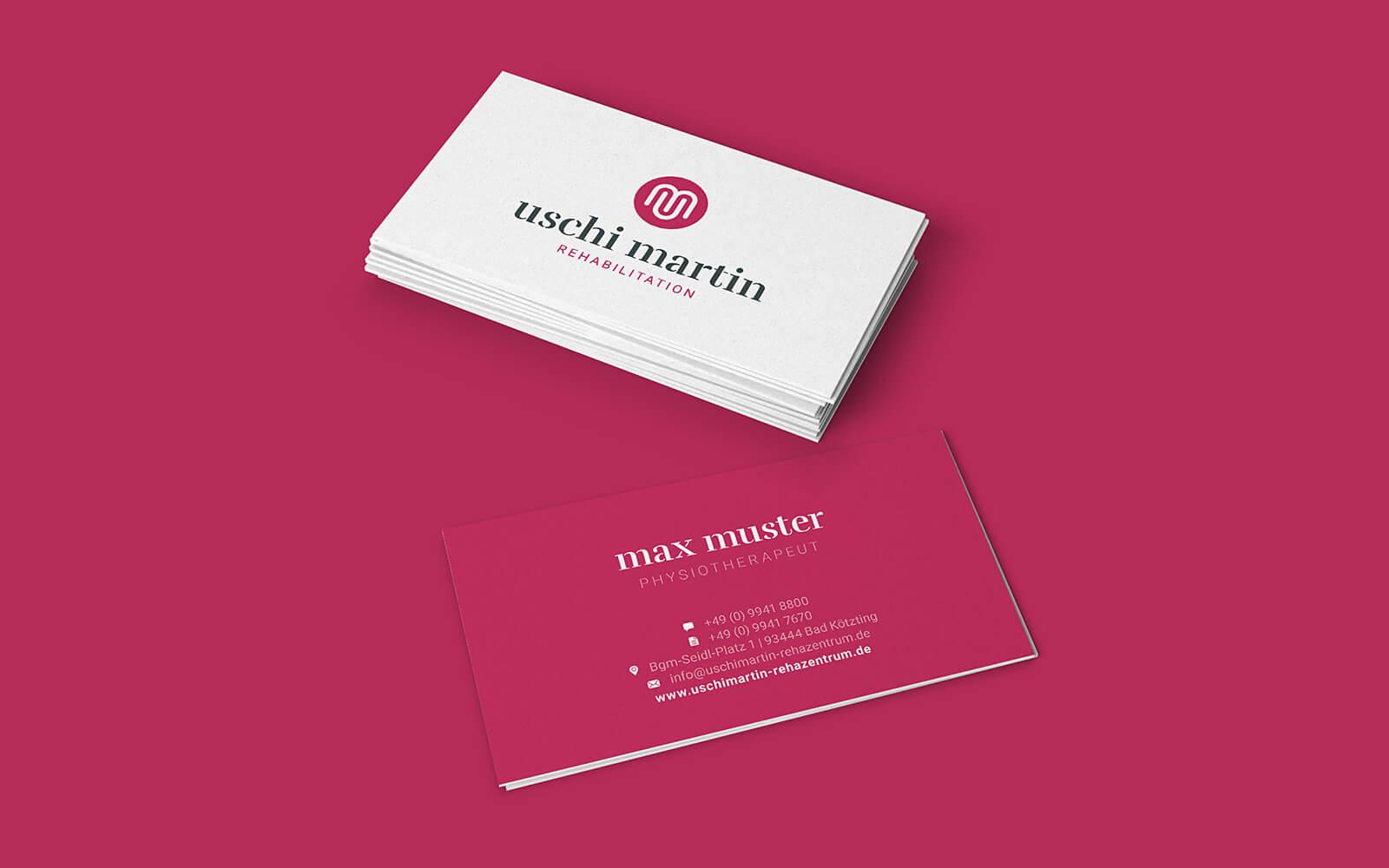Uschi Martin – Visitenkarten für Rehabilitation
