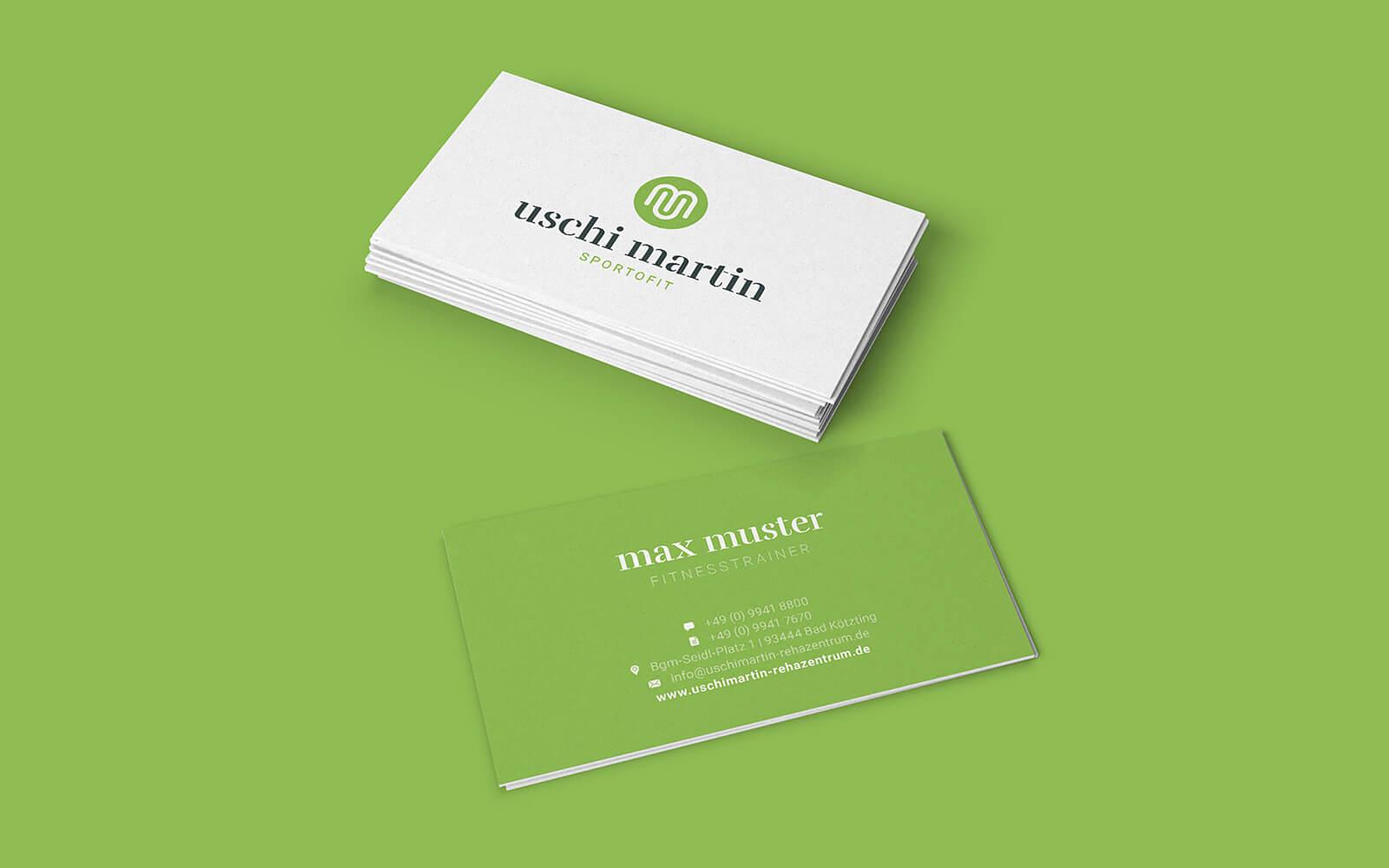 Uschi Martin – Visitenkarten für Sportofit