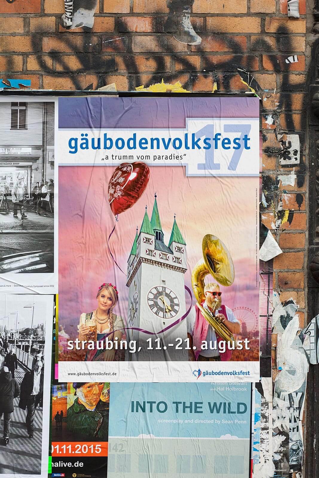 Plakat Gäubodenvolksfest 2017
