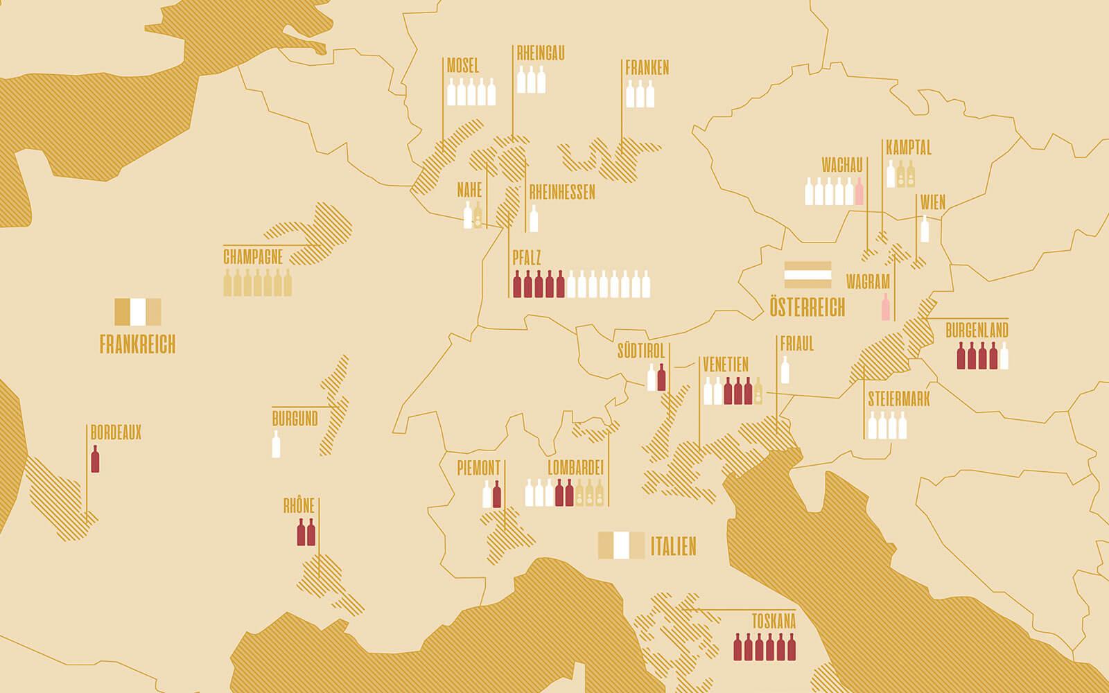 TONI's Weinkarte – Detailansicht der Übersichtskarte