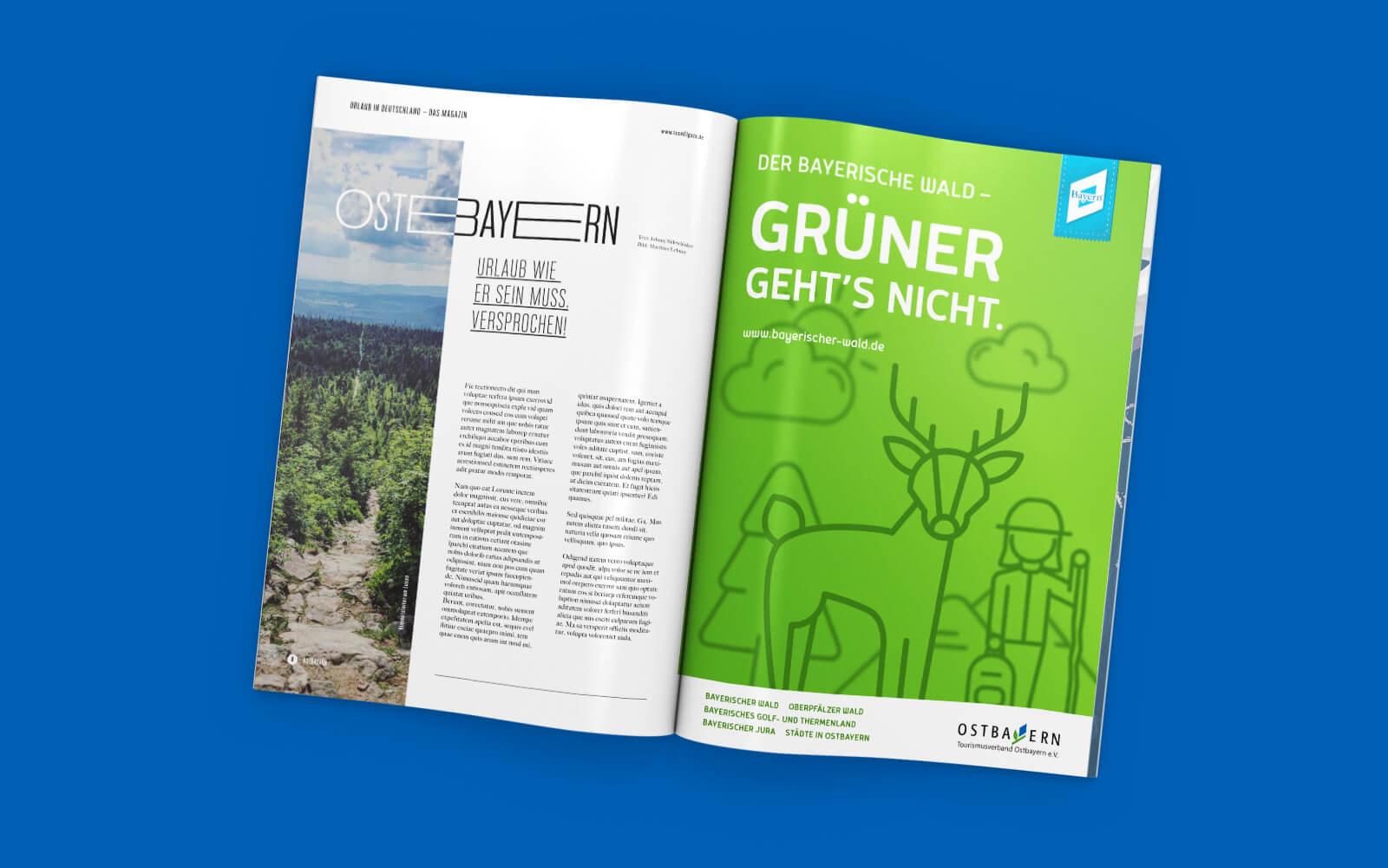 Ostbayern Tourismus – Anzeige