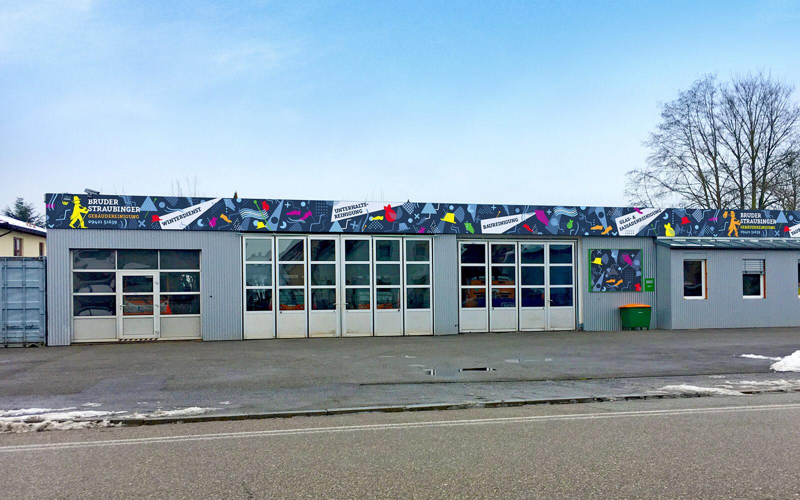 Bruder Straubinger Gebäudereinigung – Hausfassade