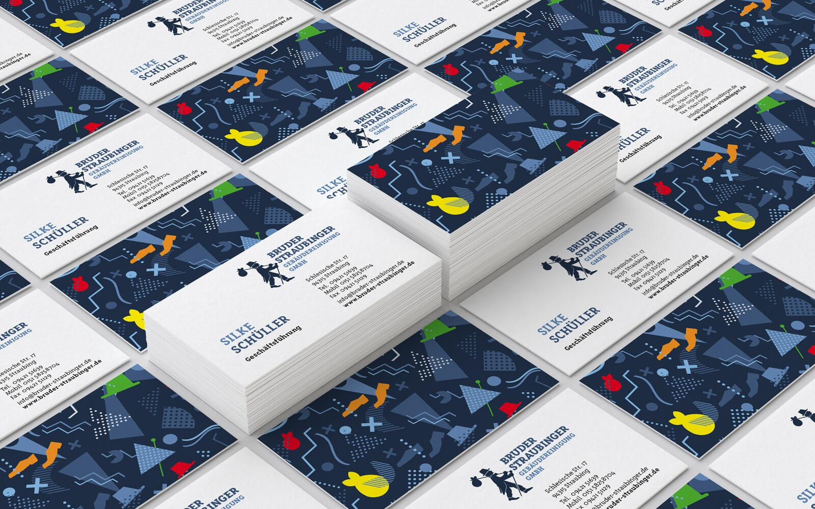 Bruder Straubinger Gebäudereinigung – Visitenkarten