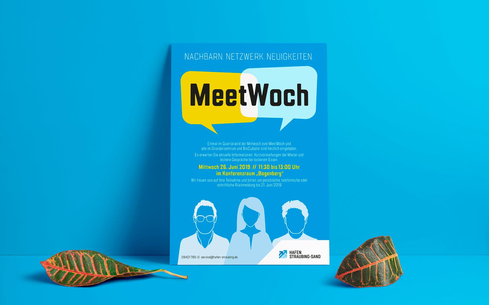Hafen Straubing-Sand – Veranstaltungs-Plakat »MeetWoch«