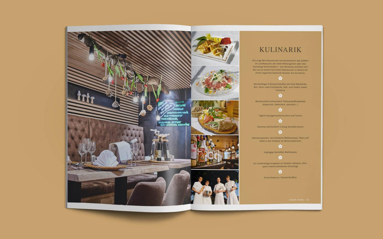 Posthotel Rattenberg – Imagebroschüre Kulinarik