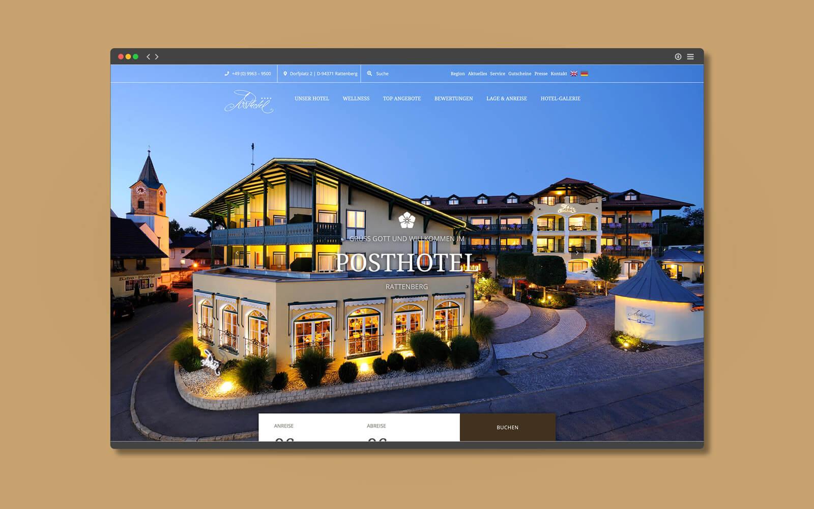Posthotel Rattenberg – Website Startseite