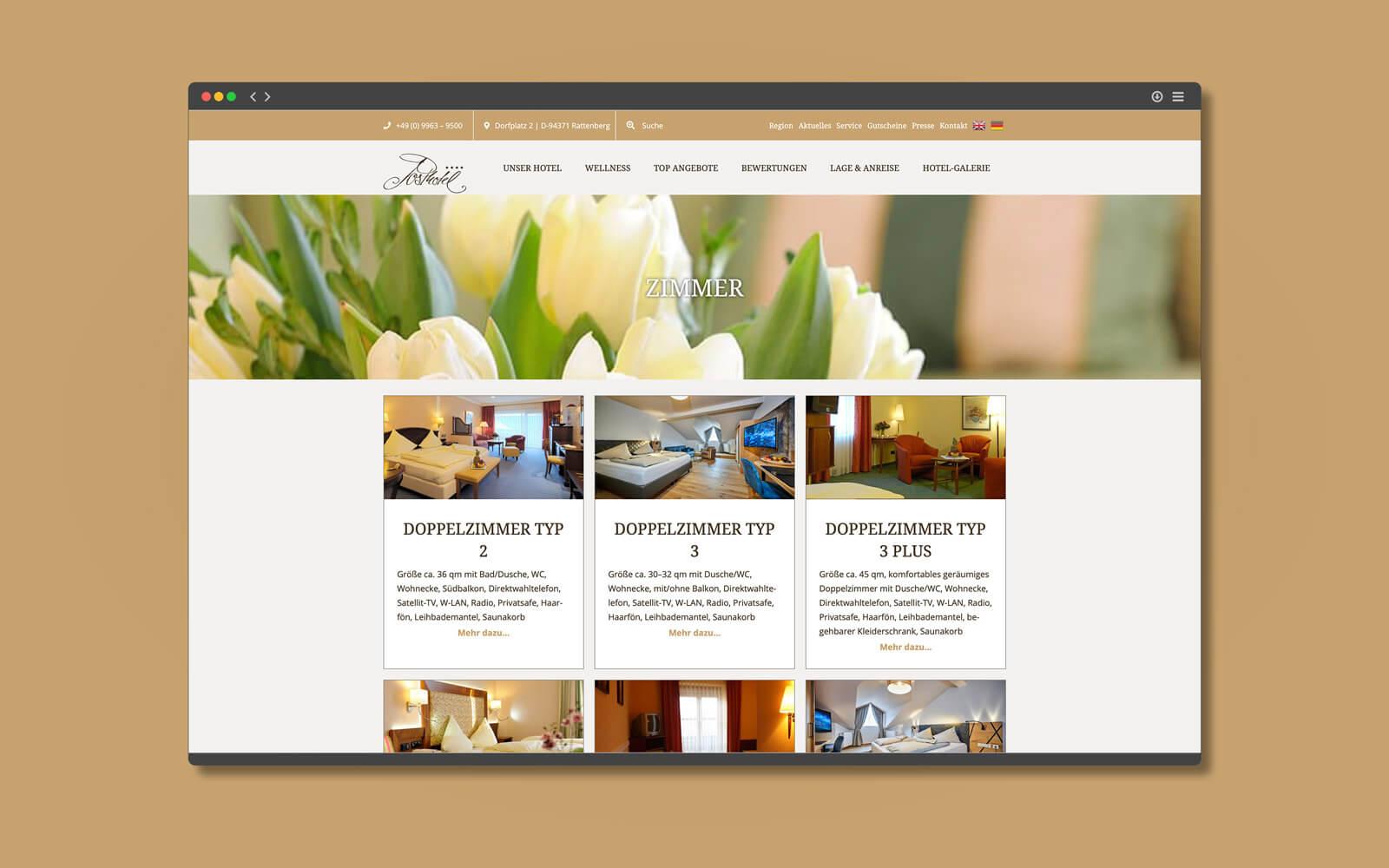 Posthotel Rattenberg – Website Zimmer