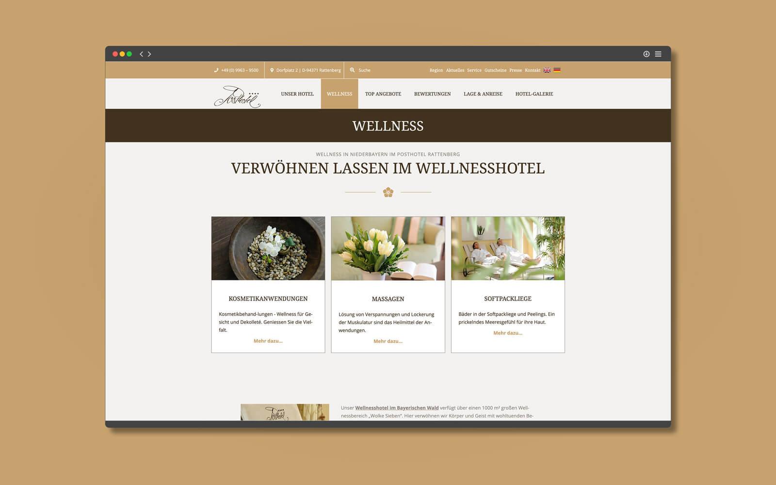 Posthotel Rattenberg – Website Wellness