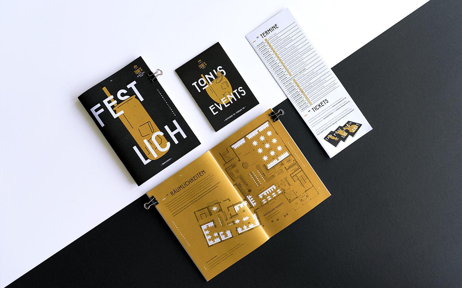 TONI's Events – Broschüren & Flyer
