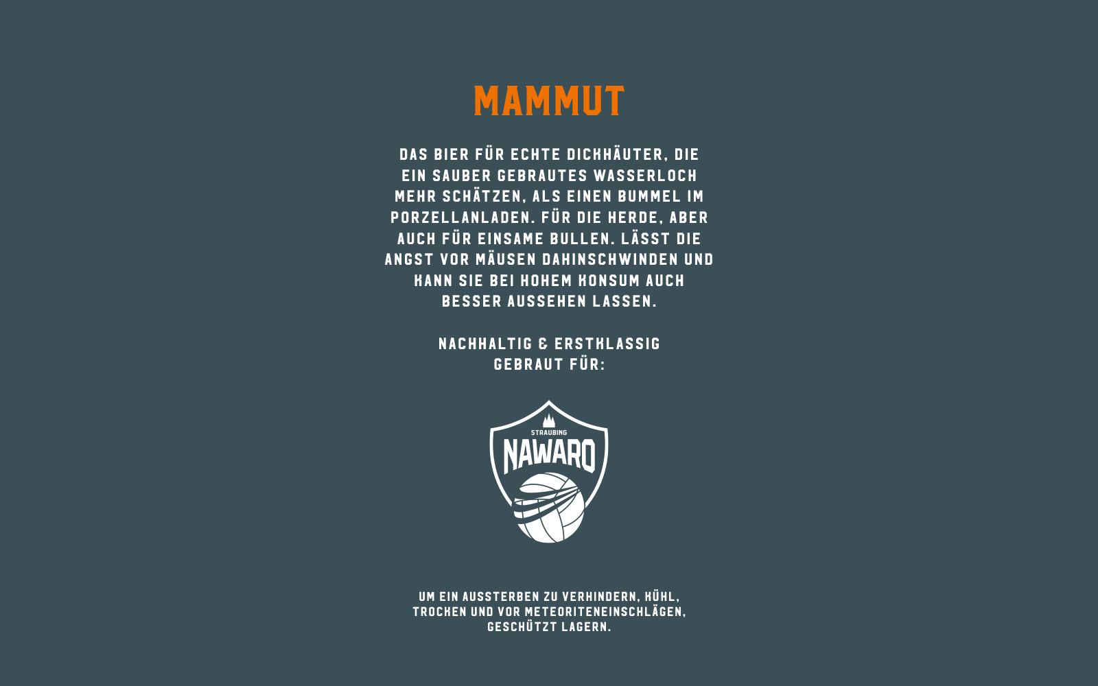 Mammut Bräu – Craft Beer Etiketten Back