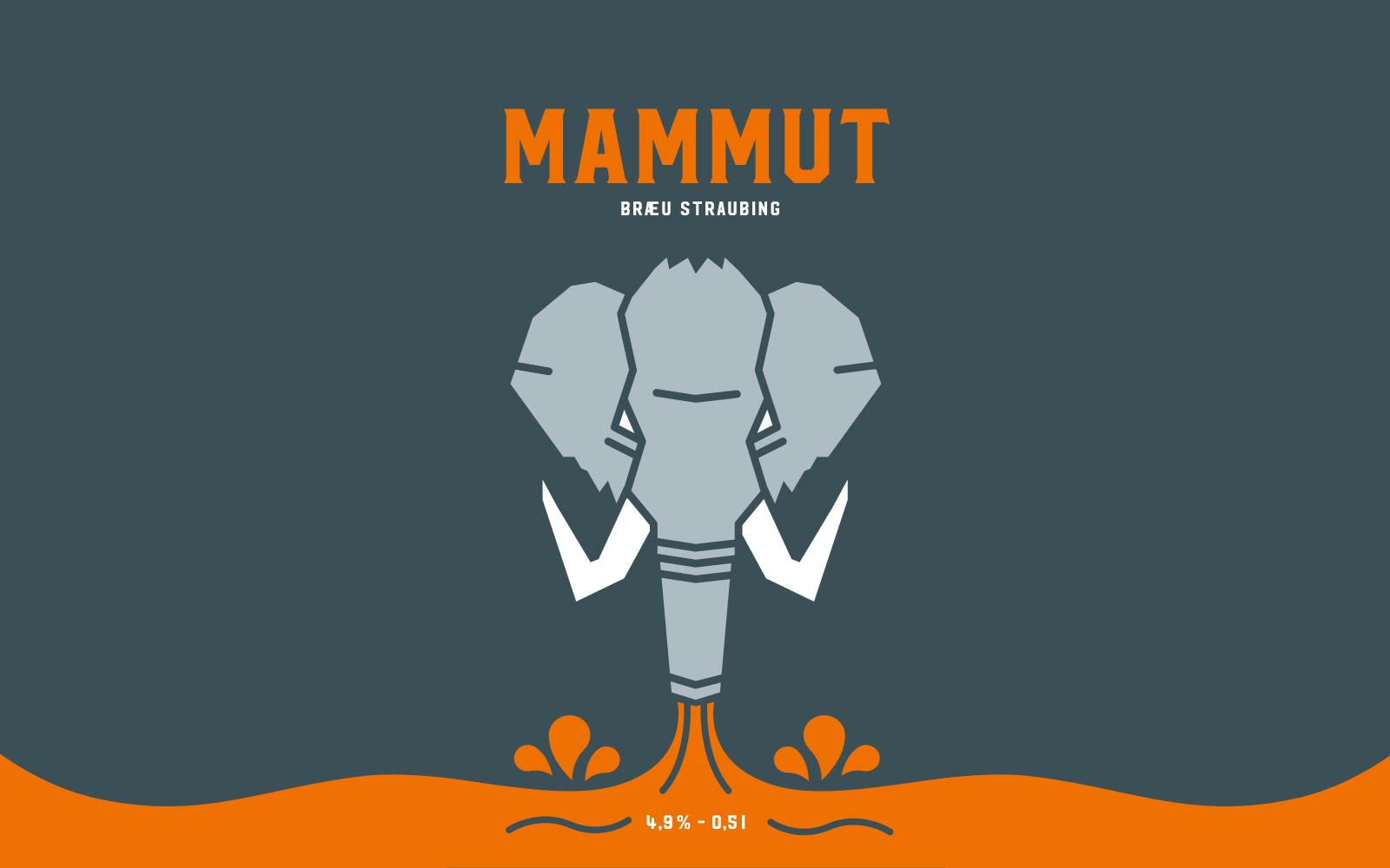 Mammut Bräu – Craft Beer Etiketten Front
