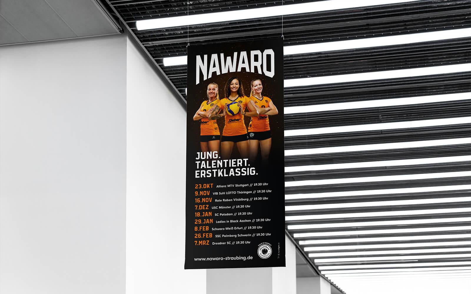NawaRo Straubing – Spieltagsbanner