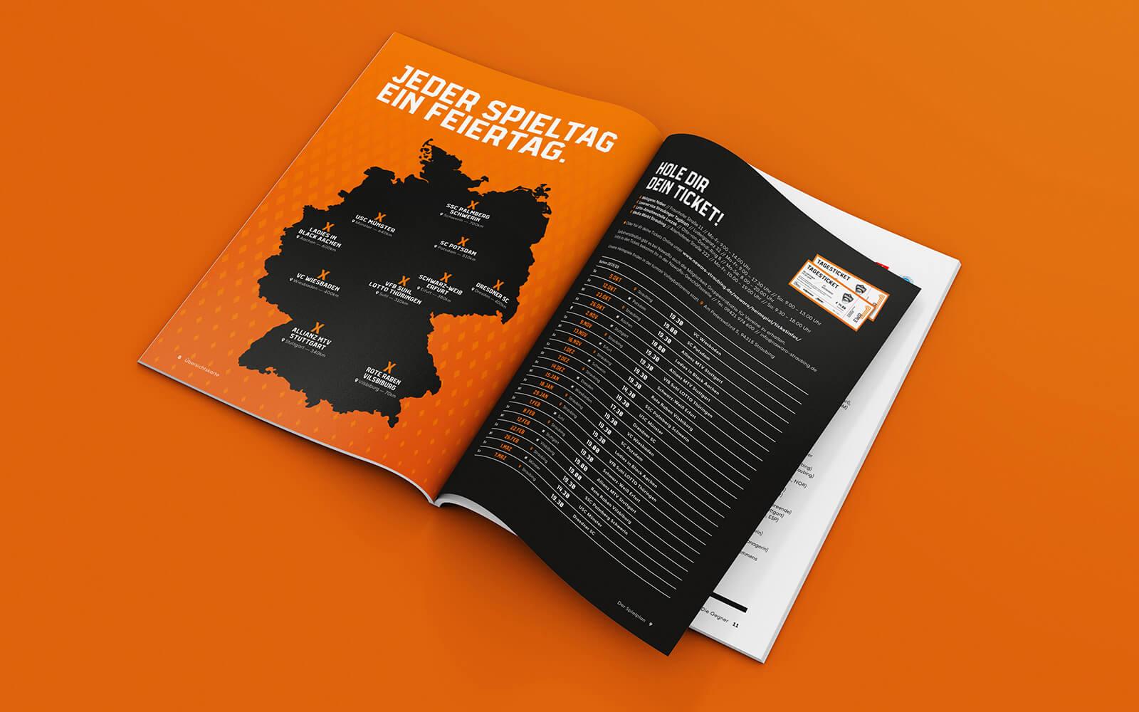 NawaRo Straubing – Spielplan im Saisonmagazin
