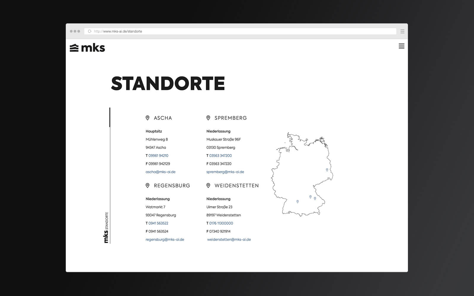 mks – Website Standorte