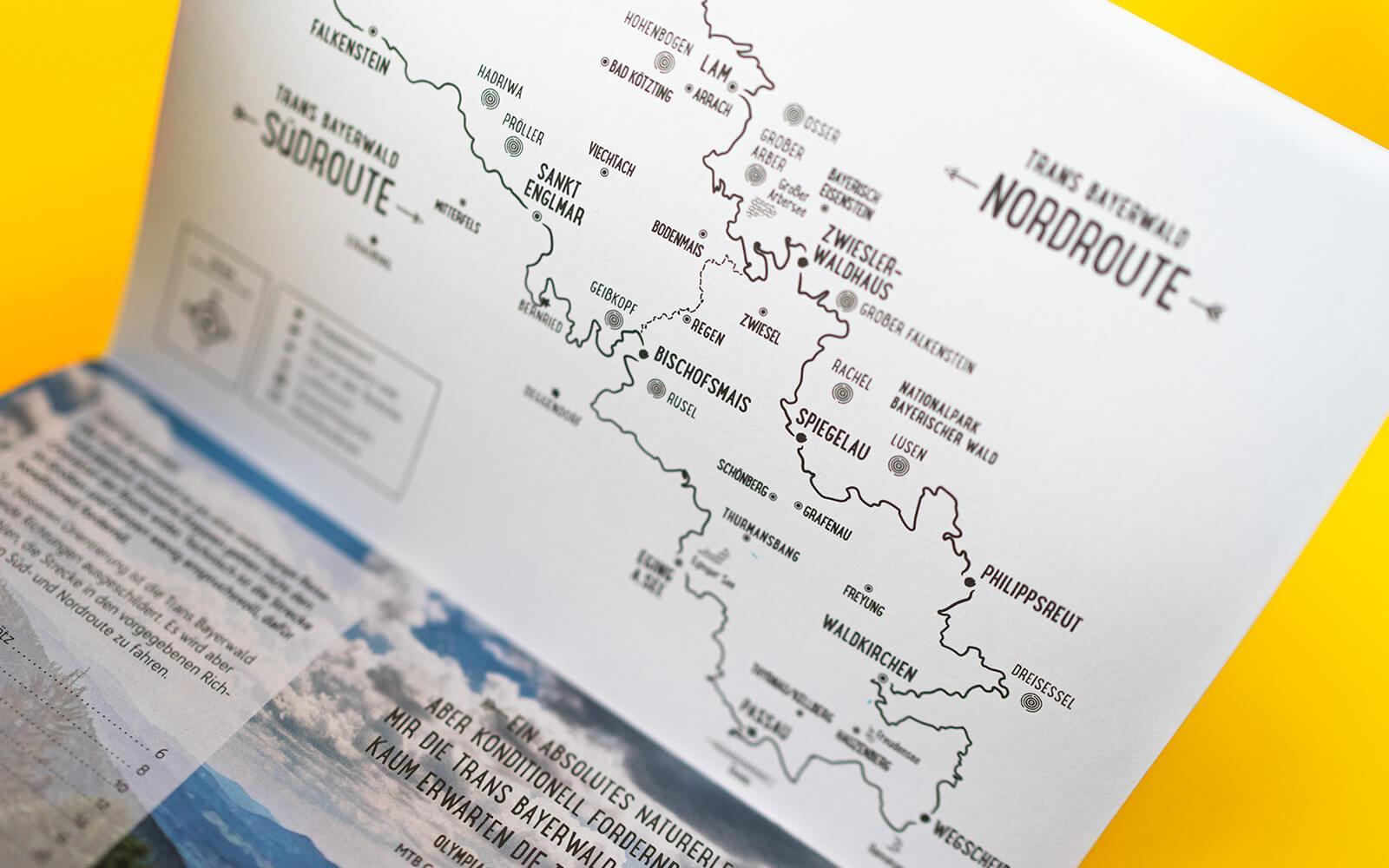 Trans Bayerwald – Etappen-Booklet Karte
