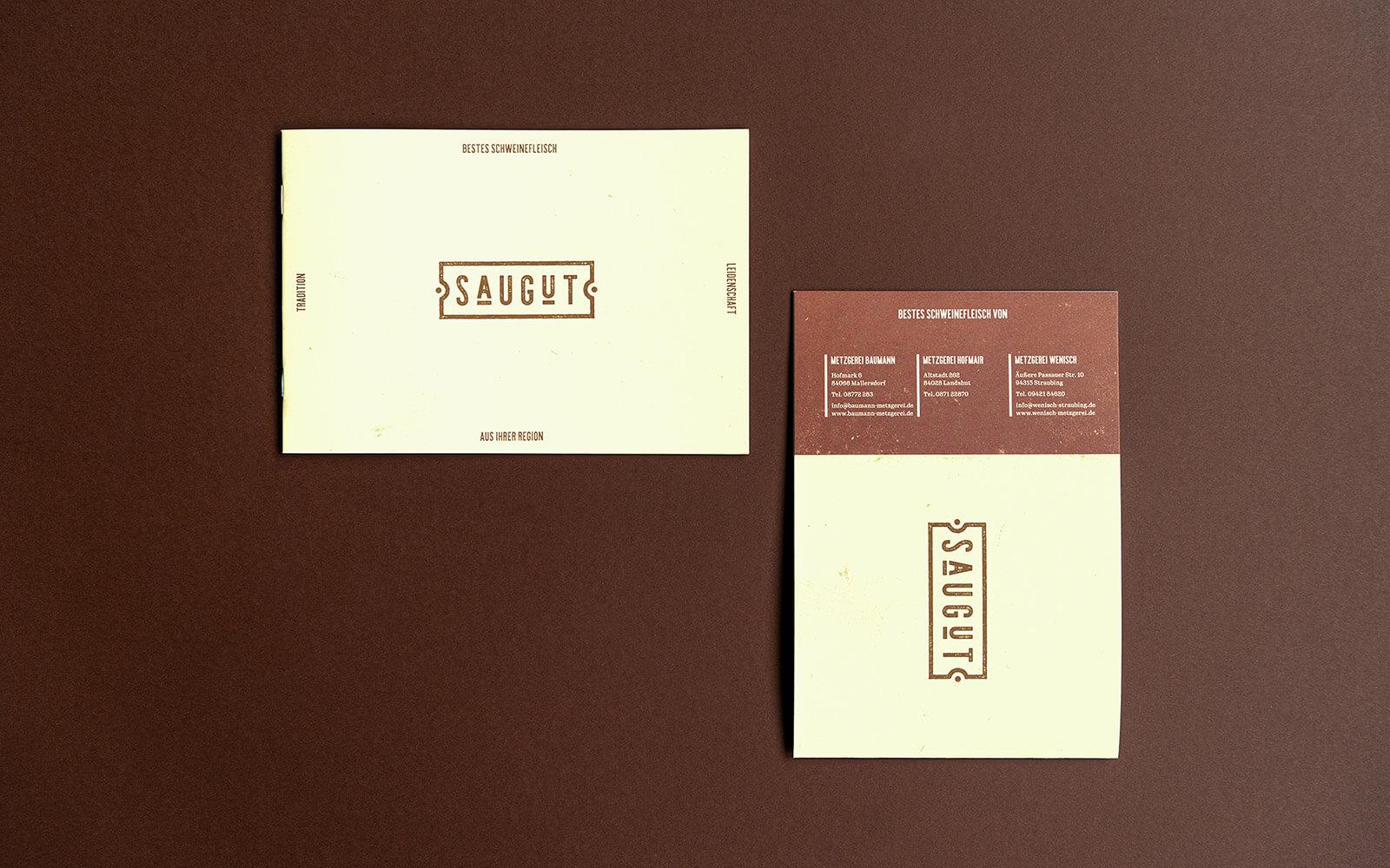 SAUGUT – Broschüre – Titel und Rücktitel