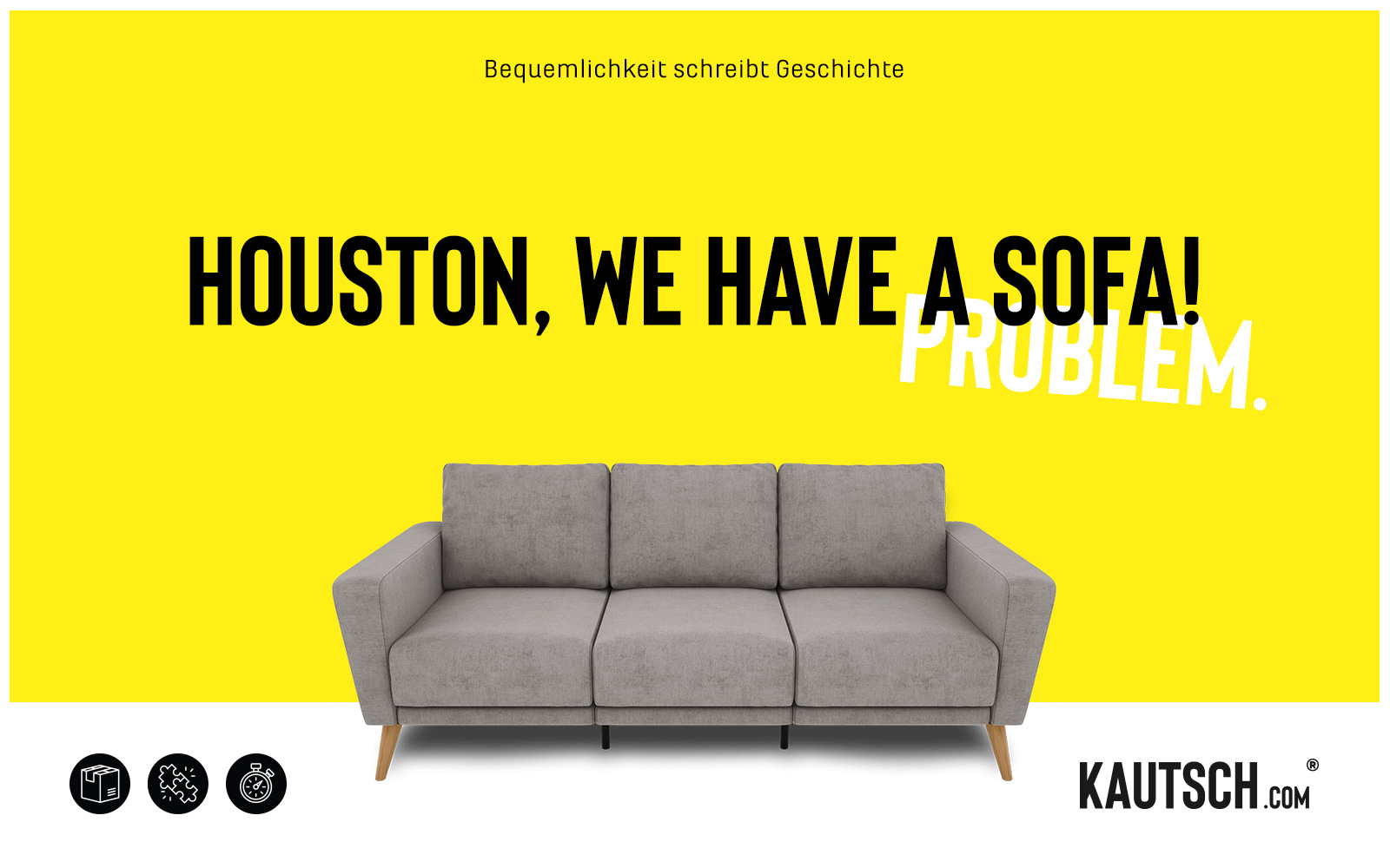 KAUTSCH.com – Kampagne WE HAVE A SOFA