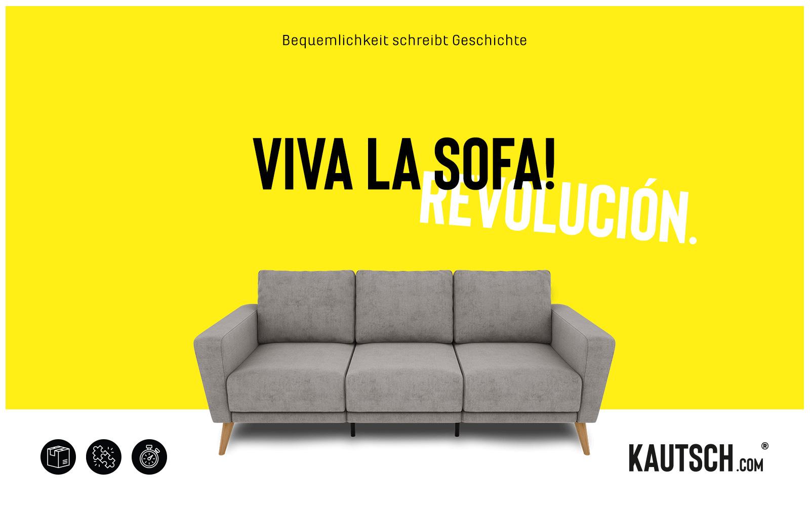 KAUTSCH.com – Kampagne VIVA LA SOFA